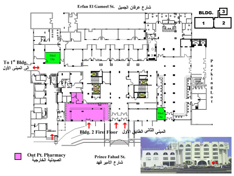 Dr erfan and bagedo general hospital floor plan for Pharmacy floor plan